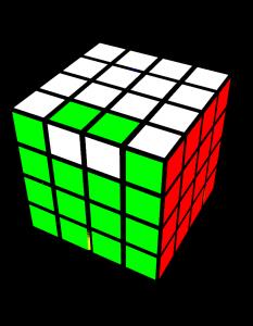 4x4-Zauberwürfel-One Dedge Flip